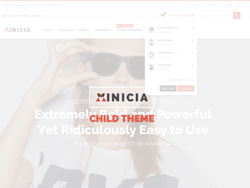 Vinicia Child WordPress shop theme