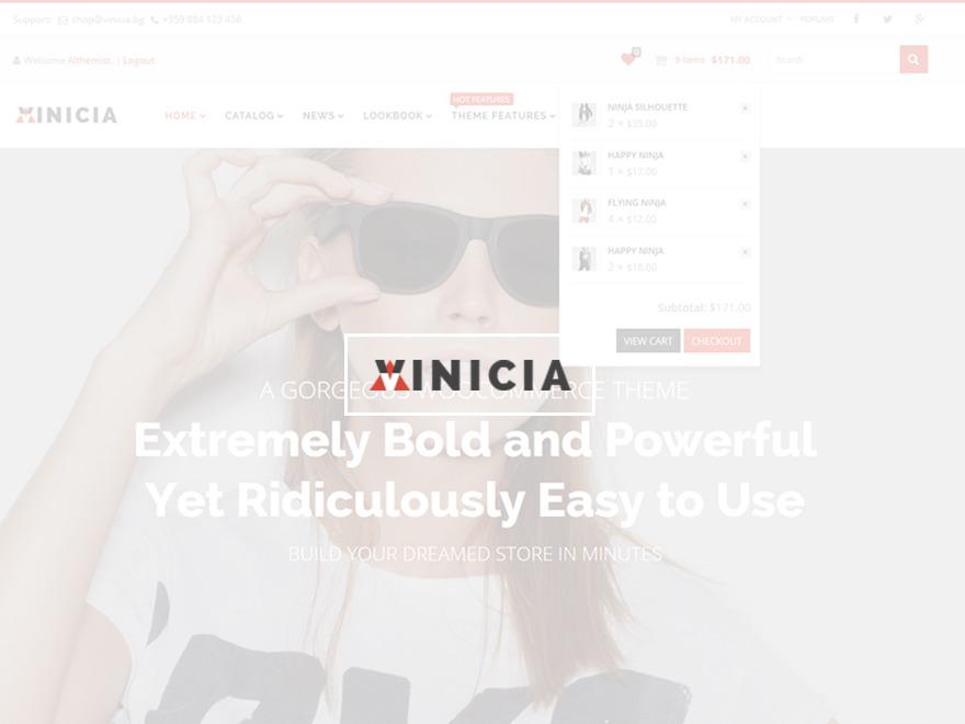 Vinicia WordPress store theme