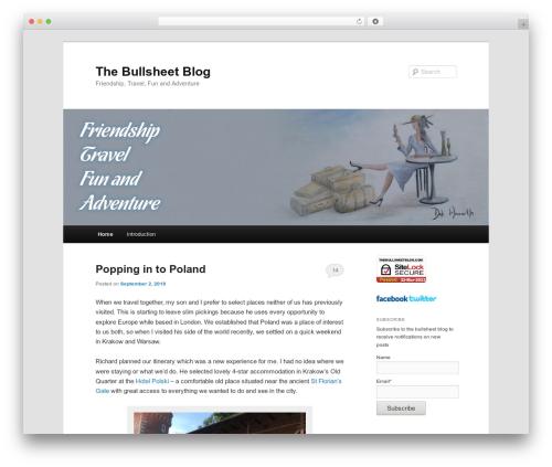 WordPress template Twenty Eleven - thebullsheetblog.com