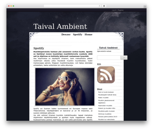 WordPress theme Cloudy Night - taival-ambient.com