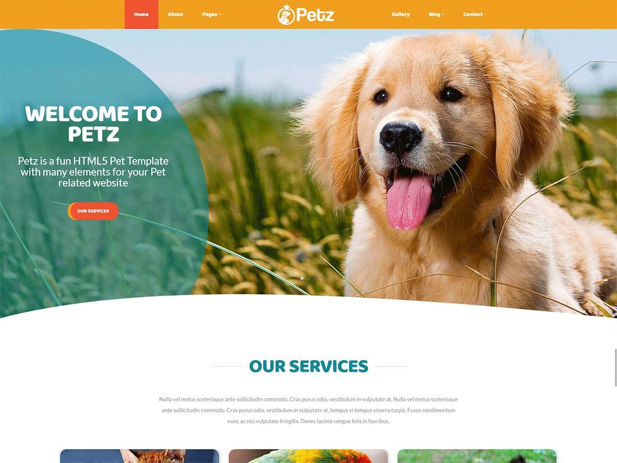 WordPress theme Petz