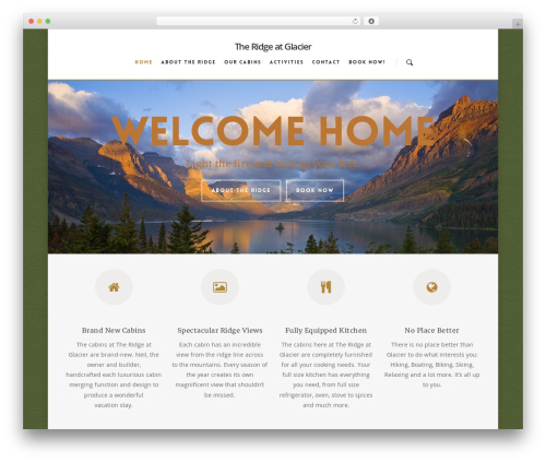 WordPress theme Salient - theridgeatglacier.com
