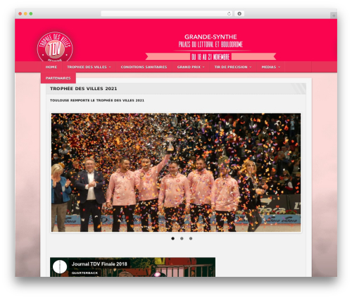 WordPress website template Sportimo Premium Theme - tropheedesvilles.fr