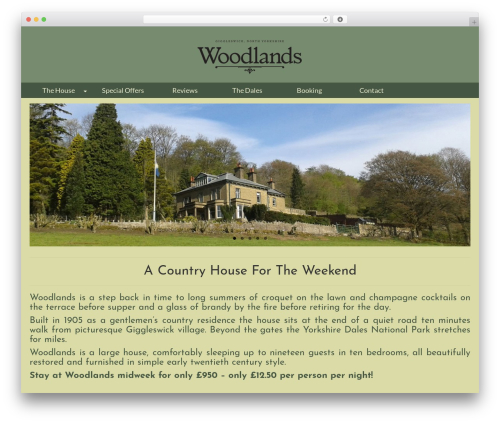 WordPress social plugin - thewoodlandshouse.co.uk