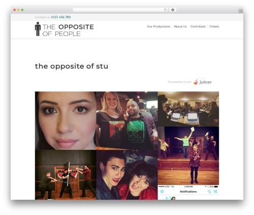 Yalu WordPress theme design - theoppositeofpeople.org