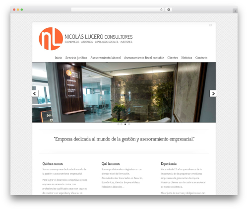 Best WordPress template Chameleon - nicolaslucero.com