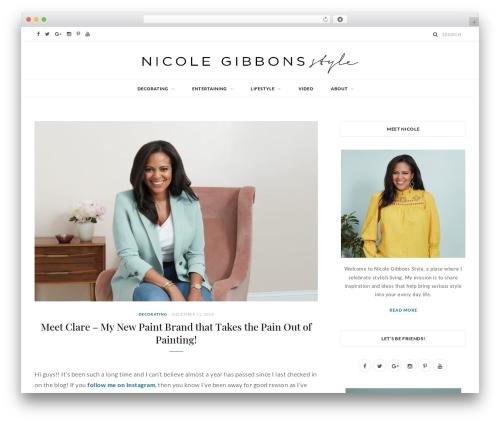 Best WordPress template CheerUp - nicolegibbonsstyle.com