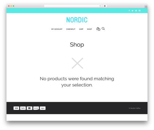Mr. Tailor (shared on wplocker.com) best WordPress theme - nordic.coffee