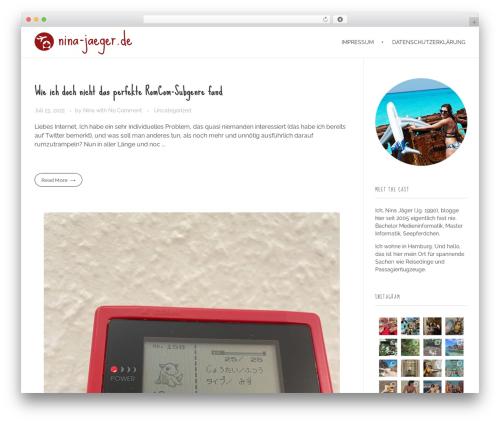 Phlox free WordPress theme - nina-jaeger.de/blog