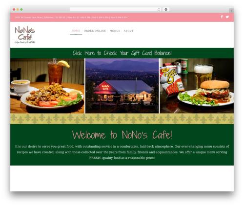 WP Nuvo premium WordPress theme - nonoscafe.com