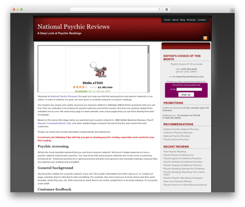 Affiliate Internet Marketing theme WordPress theme - nationalpsychicreviews.com