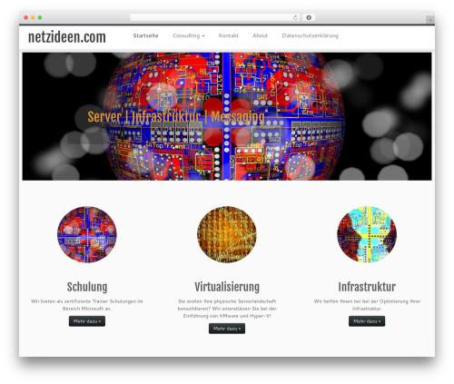 Customizr WordPress website template - netzideen.com/cms