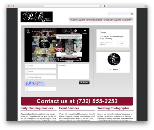 Easy WP Local WordPress wedding theme - njpartyqueen.com