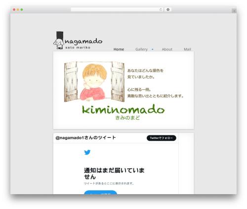 MiniFolio best WordPress template - nagamado.com