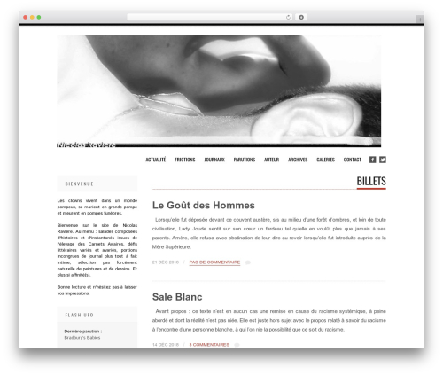 Tesla theme WordPress free - nicolasraviere.com