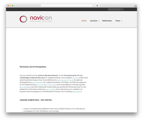 WordPress theme Clearly Modern - navicon.at