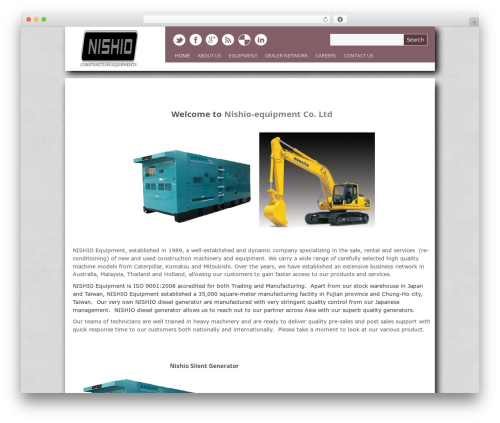 Yasmin template WordPress - nishio-equipment.com