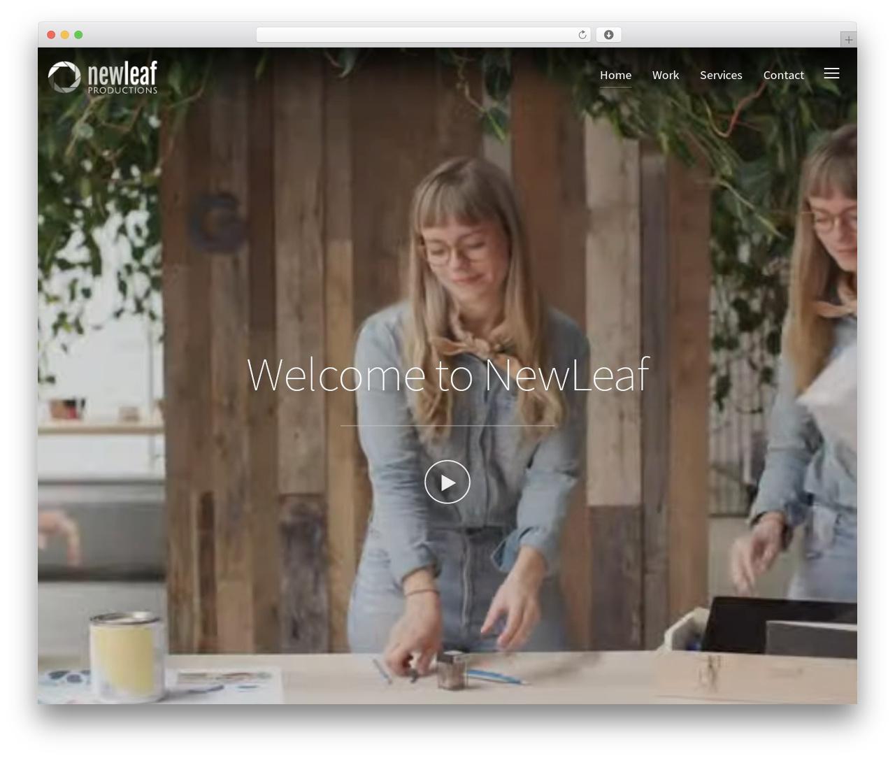 Best WordPress theme Inspiro - newleafpresents.com