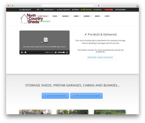 Divi top WordPress theme - northcountrysheds.com
