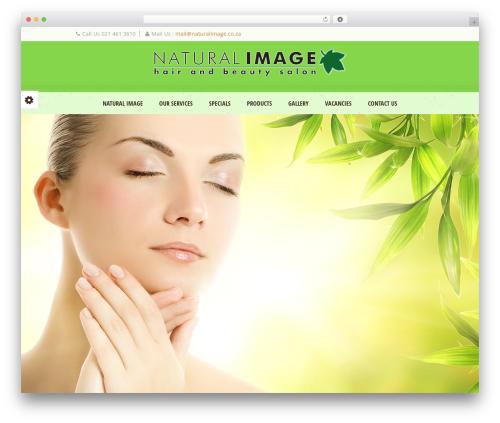 Dream Spa WordPress theme design - naturalimage.co.za