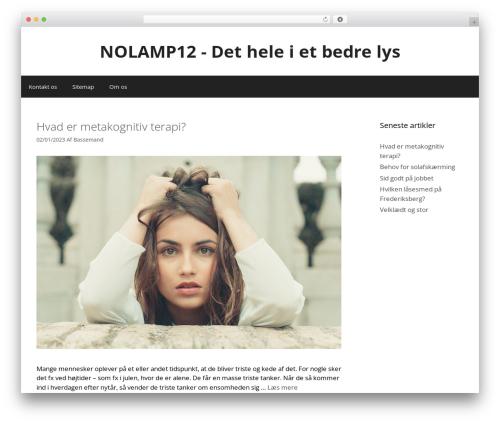 GeneratePress best free WordPress theme - nolamp12.dk