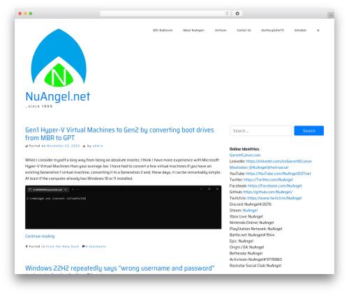 ioBoot WordPress website template - nuangel.net