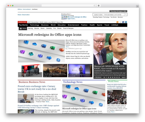 Online News Portal WordPress magazine theme - newsobservation.com