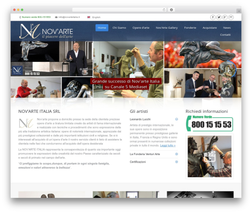 The7 premium WordPress theme - novarteitalia.com