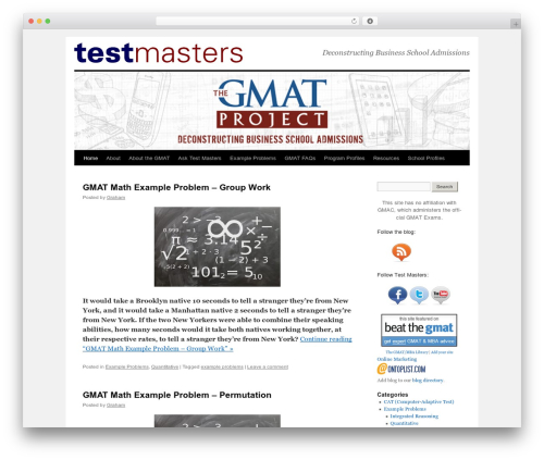 WordPress theme Twenty Ten - newgmat.org