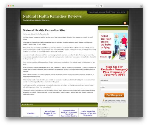 Affiliate Internet Marketing theme WordPress theme - naturalhealthremediessite.com