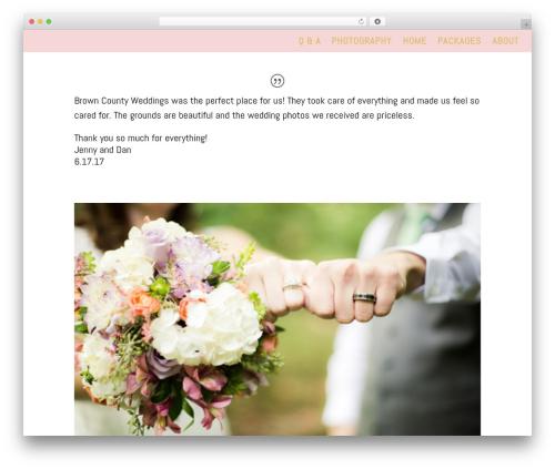 Divi WordPress theme - nashvilleindianawedding.com