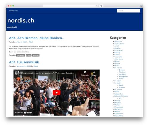 Flint best free WordPress theme - nordis.ch