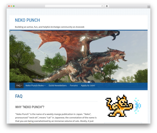 Kuorinka free WP theme - nekopunchguild.com