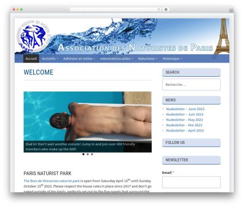Kuorinka premium WordPress theme - naturistes-paris.fr