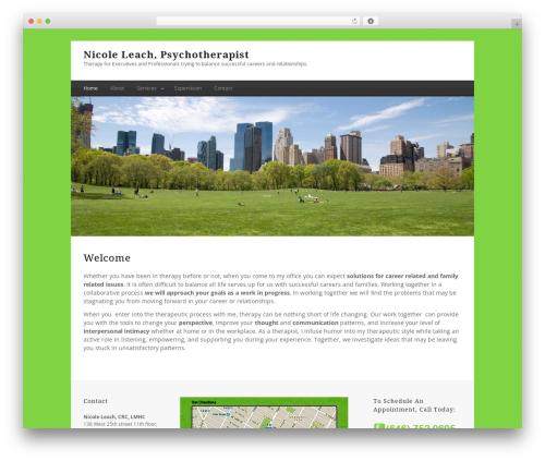 Minimal Xpert WordPress theme - nicoleleach.com
