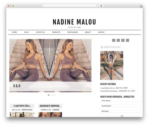 Runway best WordPress template - nadinemalou.de