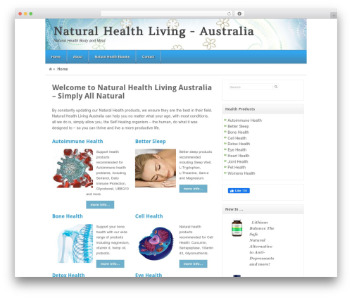WordPress theme Akita - naturalhealthliving.com.au