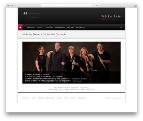 Free WordPress ConcertPress plugin - nicholasdaniel.co.uk