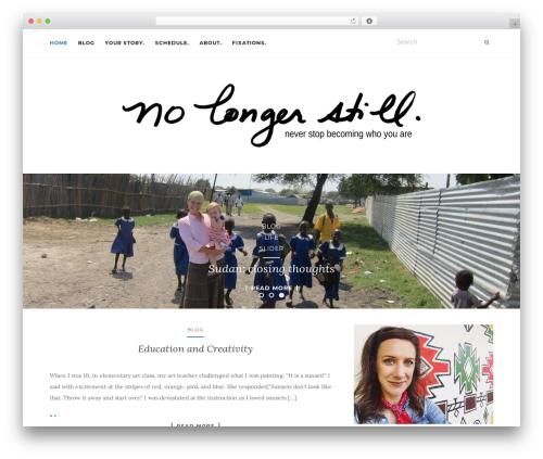 Activello free WordPress theme - nolongerstill.com