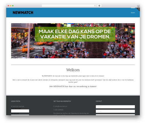 Avada premium WordPress theme - newmatch.nl