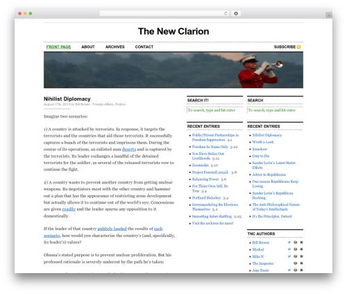 Cutline 3-Column Right theme WordPress - newclarion.com