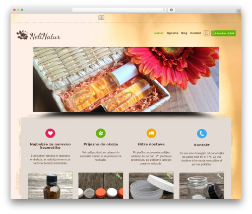 Organic Web Shop WordPress shopping theme - nelinatur.com