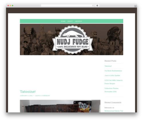 Penscratch WordPress blog template - nudjfudge.com