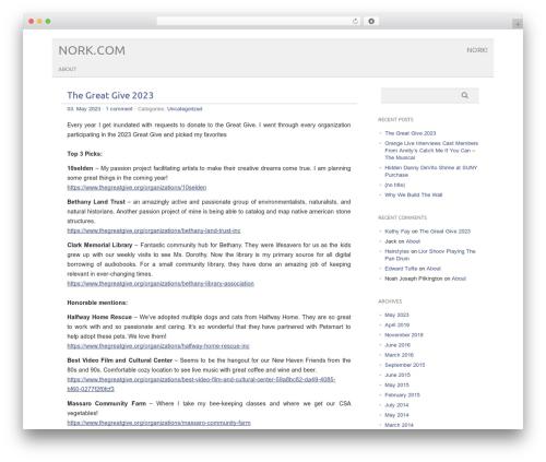 picolight theme WordPress - nork.com