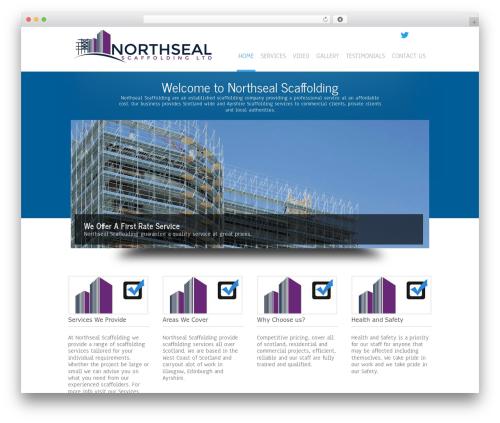 Simplicity Lite free WP theme - northsealscaffolding.com