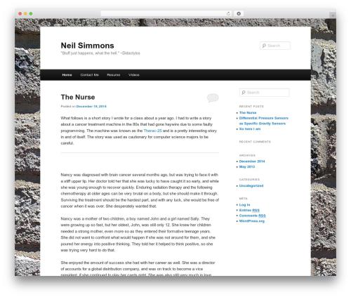 Twenty Eleven premium WordPress theme - neilsimmons.com