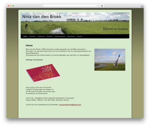 WordPress template Twenty Ten Weaver - ninavandenbroek.nl