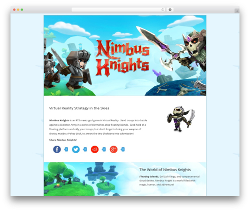 WordPress website template Lion - WordPress Theme - nimbusknights.com
