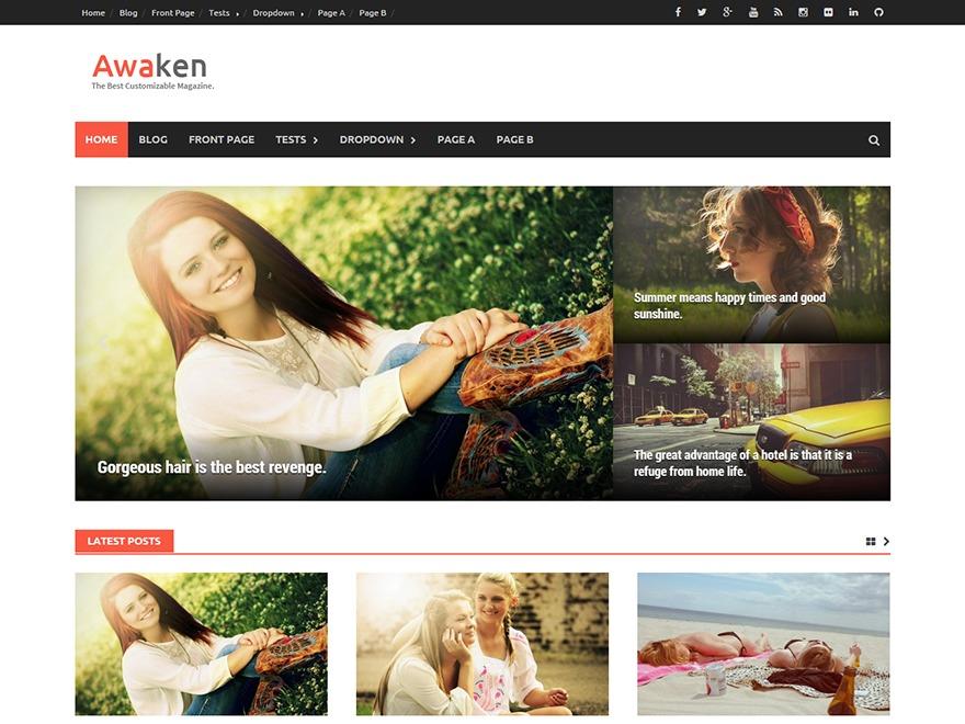 Awaken Custom WordPress news theme