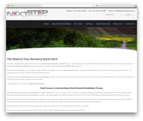 Celestial Reloaded WordPress website template - nextsteprehab.ca
